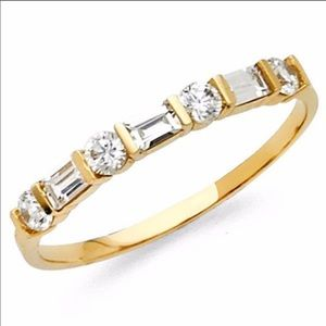 14k Solid Yellow Gold 0.50 Ct Wedding Band size 11